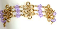 Deluxe Triplex Bracelet with Violet Beads Jewelry Making Project