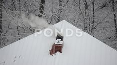 Smoke from the chimney on a snow background. Alpha Channel, House Building, Video Footage, Photo Illustration, Photoshop Actions, Rooftop, Stock Footage, Countryside, Frost