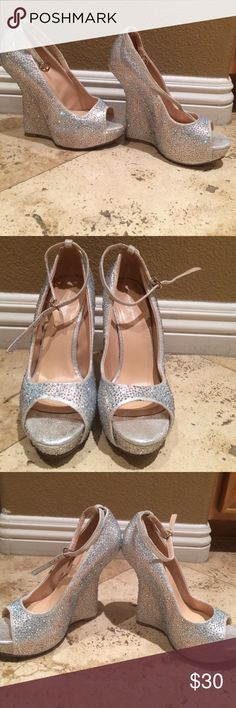 Wedge heels Size 6 Chinese Laundry wedge sparkle heels Chinese Laundry Shoes Wedges