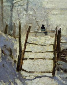 CLAUDE MONET The Magpie. I was lucky enough to see this painting in real life, the quality of life is amazing.