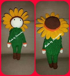 "Sunflower ""Sam"". Pattern by Zabbez. Made by Samantha."