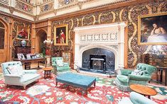 Highclere Castle: the real Downton Abbey ~ the Saloon