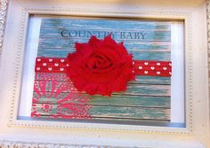 Red with White Hearts Baby Headband by CountryBabyHandmade on Etsy