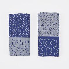 Nomess Splash Tea Towels - Blue/Blue (Image 1)