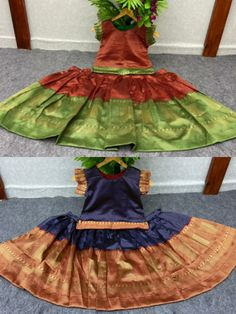 Price Rs 750 + Shipping extra WE ARE LAUNCHING NEW KIDS TRADITIONAL CROP TOP LEHENGA OUTFIT FOR SPECIAL OCCASIONS Kids Crop-Top Lehenga Details Fabric: LICHI SILK Inner:- SILK Size Years:- 2 TO 4 Chest Size: 24 INCHES Length:- 21 INCHES Years:- 5 TO 7 Chest Size: 28 INCHES Length:- 25 INCHES BE AWARE WITH LOW QUALITY COPY ITEMS Crop Tops For Kids, Girls Crop Tops, Special Occasion Outfits, Lehenga Designs, New Kids, Girls Wear, Lehenga Choli, Girls Shopping, Flower Girl Dresses