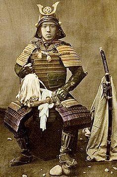 By Baron Raimund von Stillfried Samurai in armor 1870-1875