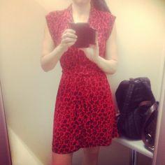 T k maxx red dress 1940s