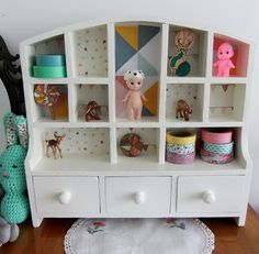 I Love Buttons By Emma: Small shelves vintage style makeover.