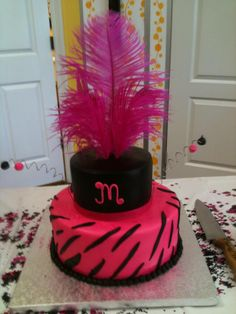 Hot pink & black diva b-day