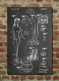 Barbie Doll Poster, Barbie Doll Patent, Barbie Doll Print, Barbie Doll Art…