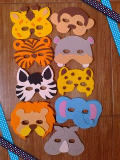 Animal art projects for kids preschool toddlers Ideas for 2019 Jungle Theme Birthday, Farm Animal Birthday, Jungle Party, Safari Party, Kids Crafts, Preschool Crafts, Projects For Kids, Animal Masks For Kids, Mask For Kids