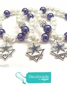 Women'sFootball Sports Team Dallas Blue and White Beaded Bracelet, Bracelet, Team Bracelet, Womens Charm Bracelet, Stretchy, Handmade Custom Beaded Jewelry from R&R's Wrist Candy https://www.amazon.com/dp/B01MTX0JU0/ref=hnd_sw_r_pi_dp_-jJsybEB1D59A #handmadeatamazon