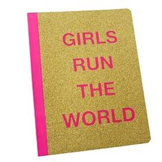 """Composition Notebook, College Ruled, 200pgs, 9.5"""" x 7.5"""" - Girls Run the World"""