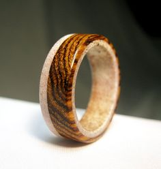Antler+Ring+with+Wooden+Accent+by+Endeavours+on+Etsy,+$95.00