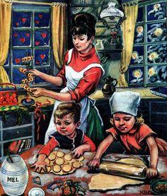 KPainting by Karen Begtrup Christiansen Christmas Images Free, Vintage Christmas Crafts, Christmas Greetings, Christmas Cards, Family Images, Believe In God, The Kingdom Of God, Vintage Postcards, Vintage Children