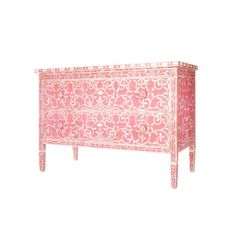 Pink Mother of Pearl Inlay chest of drawers