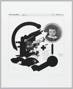 Wolfgang Weingart. Print, 1974: Collage 8, 1975
