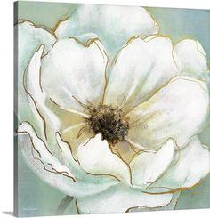 Carol Robinson Premium Thick-Wrap Canvas Wall Art Print entitled Soft Teal Splendor, None