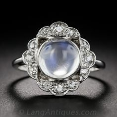 Vintage Moonstone and Diamond