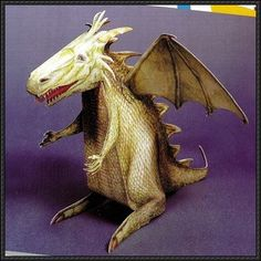 A Simple Flying Dragon Free Papercraft Download | PaperCraftSquare.com