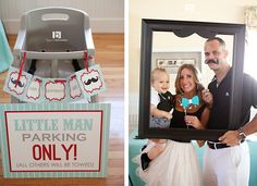 Mustache 1st Birthday Party | ... the door in the Wizard of Oz with that mustache on! But way cuter