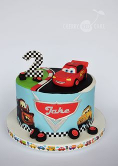 Brilliant Image of Lightning Mcqueen Birthday Cake - Birthday Cake Pictures - kuchen kindergeburtstag Lightning Mcqueen Birthday Cake, Lightning Mcqueen Cake, Disney Cars Cake, Disney Cakes, Birthday Cake Pictures, 3rd Birthday Cakes, Gateau Flash Mcqueen, Queen Cakes, Red Cake