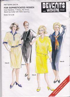 1980's Sewing Pattern  BevKnits No 2401a by jennylouvintage
