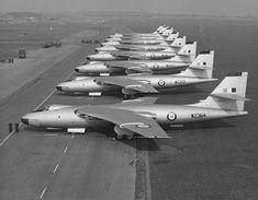RAF Valient bomber line up (1950s)