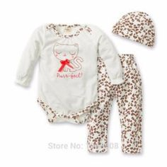 Cheap baby boy, Buy Quality baby boy fashion directly from China baby fashion boy Suppliers: Hurave new fashion 2017 baby boy or girls leopard romper + pants + hat 3 pcs clothing set Baby Boy Or Girl, Baby Girl Romper, Baby Boys, Baby Boy Outfits, Kids Outfits, Winter Outfits, Romper Long Pants, Christening Gowns Girls, Girls Formal Dresses