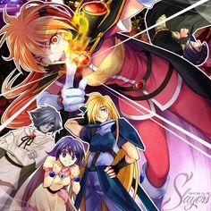 Slayers: Zelgadis, Amelia, Lina, Gourry