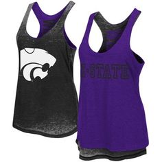 94fd78c860e091 Women s Purple Kansas State Wildcats Duo Reversible Tank. University Store  ...