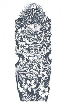 dessin-tatouage-polynésien-bras-entier tattoo designs ideas männer männer ideen old school quotes sketches Tiki Tattoo, Ethnisches Tattoo, Totem Tattoo, Manga Tattoo, Tattoo Feather, Tattoo Fonts, Tattoo Quotes, Tattoos Bein, Body Art Tattoos