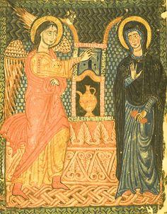 MINIATURES - Erevan, Matenadaran, MS 7482, Gospel, 1378 for miniatures, artist, Grigor Tat'evats'i, Annunciation. Photo: Ara Güler