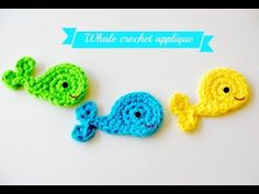 Easy crochet whale applique tutorial free patternhttp://www.jennyandteddy.com/2013/02/whale-crochet-applique-free-pattern/