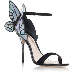 Sophia Webster Chiara Iridescent Sandals ($635) ❤ liked on Polyvore featuring shoes, sandals, special occasion shoes, butterfly shoes, mirror shoes, holiday shoes and special occasion sandals