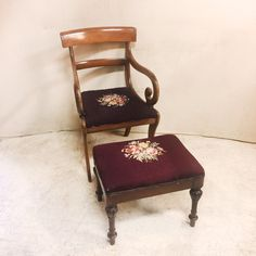Another treasure found! Vintage Curved Ar...  #greystonetreasures #buyanoriginal  http://greystonefinefurniture.com/products/vintage-curved-armchair-with-needlepoint-seat-75?utm_campaign=social_autopilot&utm_source=pin&utm_medium=pin