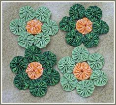 Dawn's Day Break: My yo-yo projects Sewing Art, Love Sewing, Sewing Crafts, Small Sewing Projects, Sewing Hacks, Handmade Crafts, Diy And Crafts, Yo Yo Quilt, Yarn Flowers