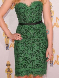 Scarlett Johansson wore this dress. Don't care for her but i love lace and green is my favorite color... so this makes me like her a tad bit more.