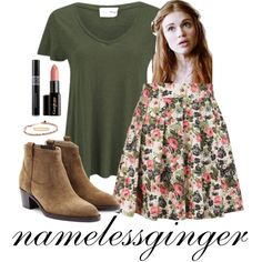 Lydia Martin 3 by namelessginger on Polyvore featuring American Vintage, Louche, Burberry, Shashi, Kate Spade, Gorgeous Cosmetics, Christian Dior, women's clothing, women's fashion and women