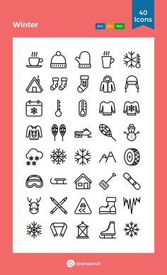 Winter Icon Pack - 40 Line Icons. Doodle Drawings, Easy Drawings, Cute Pictures To Draw, Calligraphy Doodles, Bullet Journal Key, Easy Doodle Art, Holiday Icon, Doodle Icon, Small Girl Tattoos