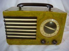 1940's Emerson Green Catalin Bakelite Radio   eBay
