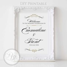 Art Deco Wedding Welcome Sign-Custom by RBHDesignerConcepts