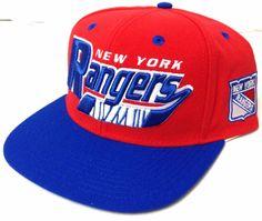 $28 CCM NEW YORK RANGERS SNAPBACK HAT Blue/Red Flat-Bill Hockey-Stick Men/Women #CCM #NewYorkRangers
