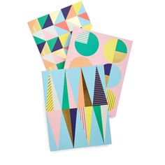Pastel Geometric Musings Journal Set by Chronicle Books from ModCloth (€6,24) ❤ liked on Polyvore featuring home, home decor, stationery, fillers, art, home accessory, multi and office