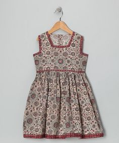 Beige Medallion Dress - Too bad this dress is 40 big ones. So sweet.