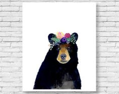 This animal art prints collection features a set of 6 prints from my flower crowned animals wall art. The collection includes portraits of an owl, deer, fox, racoon, bear, and rabbit.  If, however, youd like to swap any of them for a different piece in my shop, please give me a notice about which animals you want to swap it.  Materials: Printed on beautiful high quality, archival and acid free velvet fine art paper using professional Epson Ultra Chrome inks. Prints will be signed and dated…