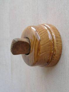 Switch フランスアンティークスイッチ陶器製木目模様レア240 インテリア 雑貨 家具 Antique ¥3000yen 〆05月24日