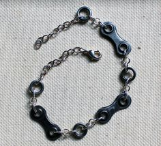 Upcycled Bicycle Chain Unisex Bracelet Warbles with Bella