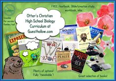 Christian High School Biology Curriculum  - LABS listed with necessary materials - options.