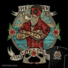 Maritime Merc #comic #comics #deadpool #film #marvelcomics #movie #onebluebird #sailor #tattoo